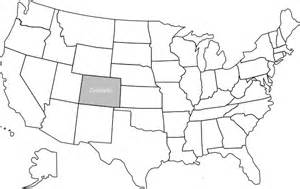 united states map with colorado highlighted clip at