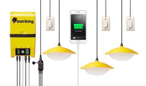 solar powered cing lights solar lights sun king solar home lights system review