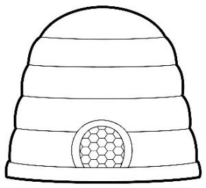 beehive template lds beehive coloring page coloring pages