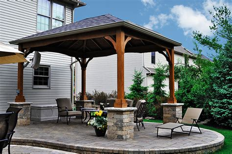 Covered Gazebos For Patios Pavilion Covered Patio In Strongsville Moscarino