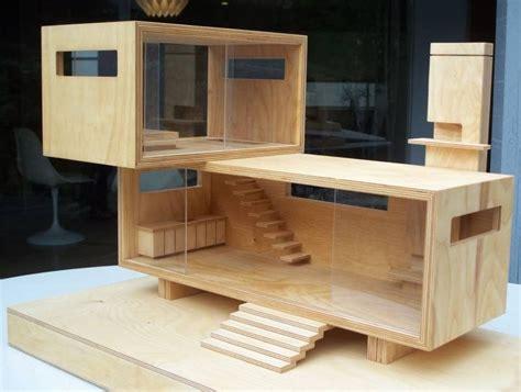 oh dollhouse mini modern uh oh wood modern dollhouse on ebay