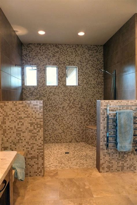 Open shower ideas awesome doorless shower creativity decor around the world