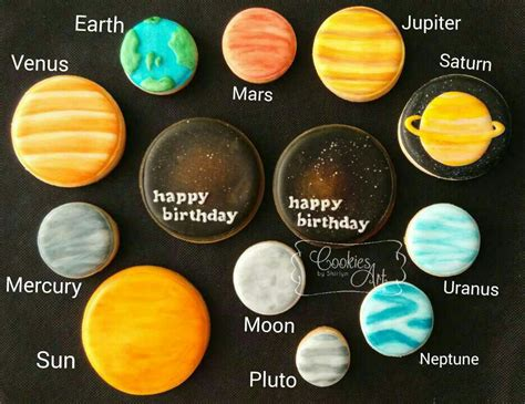 what color is the cookie solar system cookie connection decorated cookies