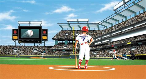 baseball stadium wall mural mlb baseball home decor batter up baseball stadium wall mural 5814780 best price 449 95