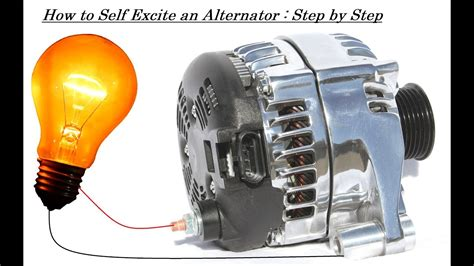 capacitor bank generator self excite an alternator without any dc generator capacitor bank or battery