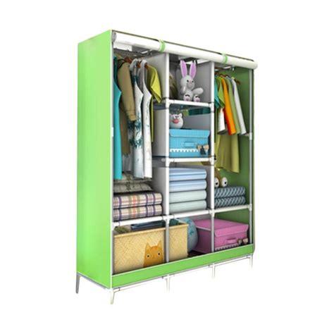 Allunique Lemari Pakaian Portable 2 Layer jual radysa lemari pakaian portable 3 layer green harga kualitas