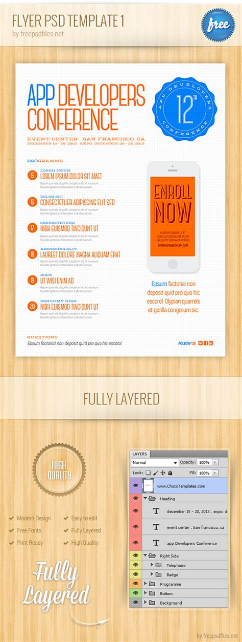 Flyer Psd Template 1 Free Psd Files Brochure Template Psd File Free