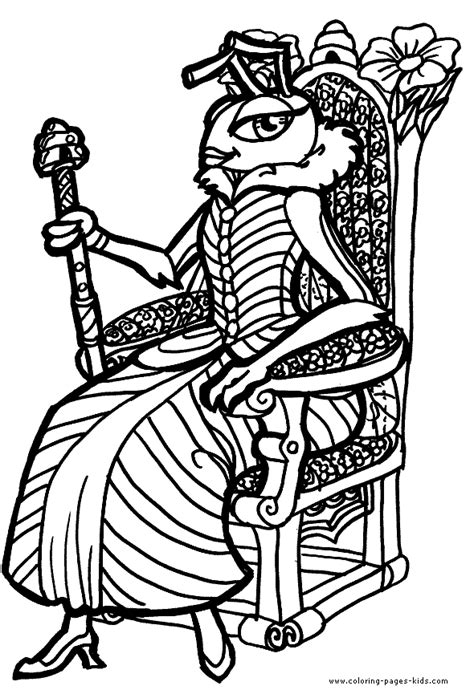 queen ant coloring page queens kings pincesses and princes color page coloring