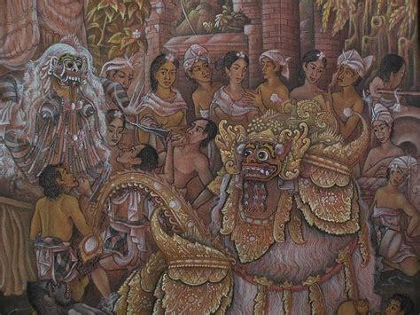 bali painting indonesian southeast asian art original