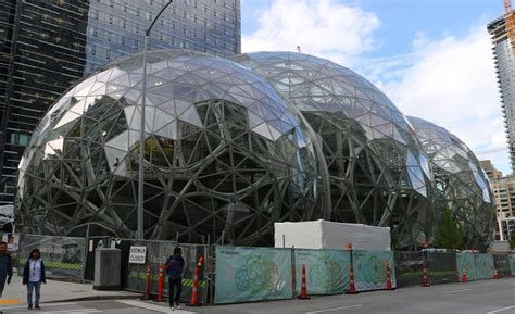 Kitchen Design Seattle On The Ground With The Amazon Spheres In Seattle 2017 05