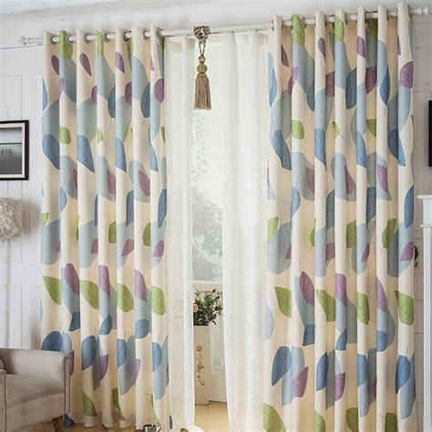 modern pattern curtains modern style leaf patterned ready made country curtains