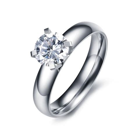 4mm silver titanium s rings wedding engagement gift