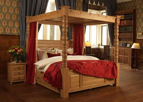Four Poster Bed by Solid Wood Four Poster Bed The Ambassador 4 Poster