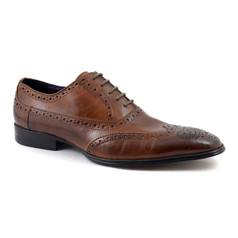 oxford brown shoes buy mens brown oxford brogue shoes gucinari style