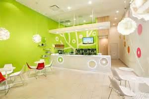 Fresh Bluberi Frozen Yogurt Shop Interior Design By