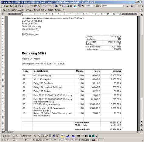 Rechnung Privatperson Brutto 12 Leistungszeitraum Rechnung Lesson Templated