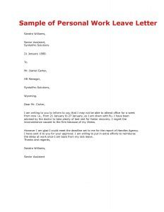 Emergency Family Leave by Letter Sles Templates Page 2
