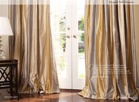 custome drapes striped silk custom drapery contemporary curtains
