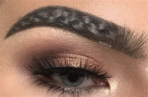 current eyebrow style braided eyebrows are the latest absurd beauty trend that