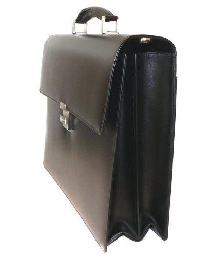 Mont Blanc Office Bag Elg97143 montblanc meisterstuck gusset briefcase in black