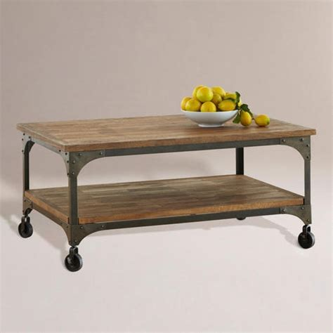 wood and metal aiden coffee table modern outdoor