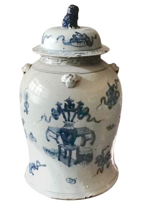 home decor jars blue and white covered tea jar home decor