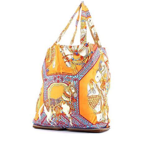 Reusable Shopper Hermes Silky Pop Handbag by Herm 232 S Silky Pop Handbag 326039 Collector Square