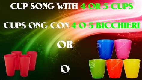 youtube tutorial cup song tutorial ita cup song con 4 e 5 bicchieri youtube