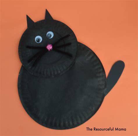 cat paper plate craft paper plate black cat kid craft the resourceful