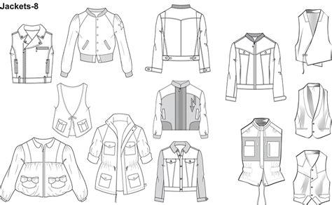 sketchbook book pro fashion flat sketches for jackets prestigeprodesign