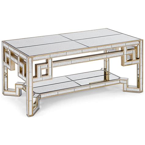 gold mirrored coffee table gold lattice antique mirror coffee table