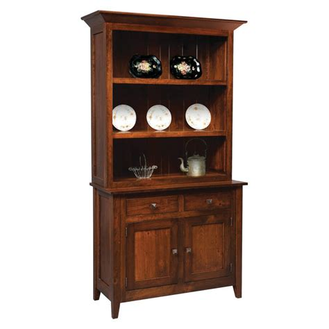 Entry Hutch Furniture Settlers Ridge Collection 2 Door Hutch Amish Crafted