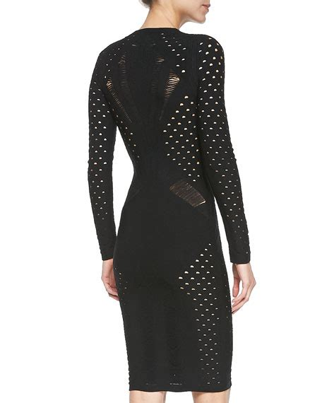 Cutout Sheath Knit Dress cushnie et ochs sleeve cutout knit sheath dress