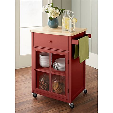 red kitchen cart island chatham house baldwin kitchen cart bed bath beyond