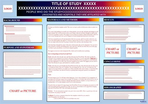 Template Scientific Poster Template Powerpoint Slides Poster Template
