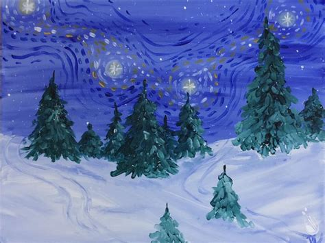 paint with a twist winter gogh s winter bliss tuesday december 12 2017