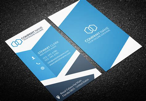 real estate business cards templates free 20 real estate business card templates