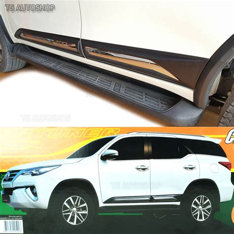 New Agya 2017 Side Molding With Colour Colour By Request fitt chrome side doors cladding moulding trims guards toyota fortuner suv 2016 ebay