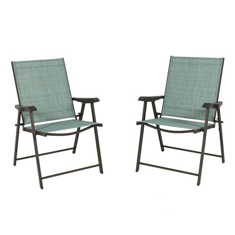 Folding Patio Chair Set Of 2 Folding Chairs Sling Bistro Set Outdoor Patio Furniture Space Saving Ebay