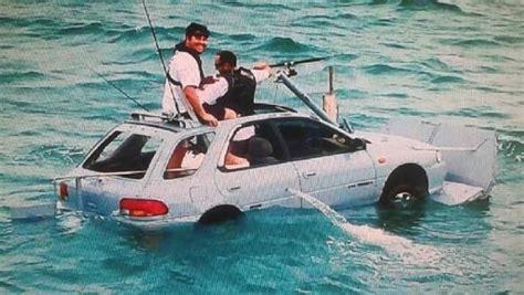 lads subaru waiuku lads an outboard on a caravan and