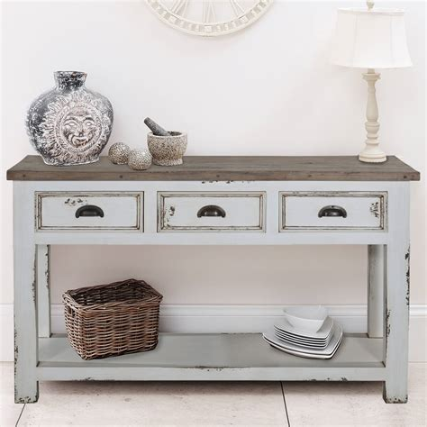 white wood console table penn rugged white distressed recycled teak solid wood