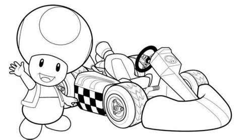 free coloring pages of mario bros raicing