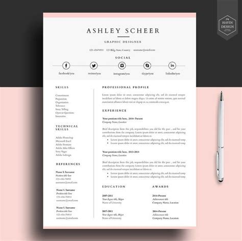 Professional Resume Design Templates by Best 25 Professional Resume Template Ideas On