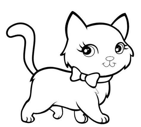 Picture Of A Cat To Color by Free Coloring Pages Of Pictures Of Kittens