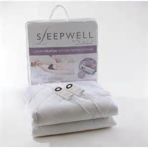 single sleepwell intelliheat luxury cotton heated