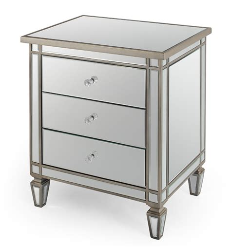 Mirrored Side Table Mirrored Table Nightstand Side Table Tmf627245