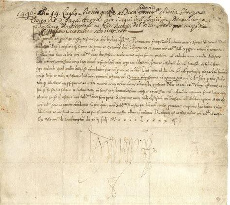 Renaissance Credit Letter A Letter To Da Vinci S Patron With A Signature
