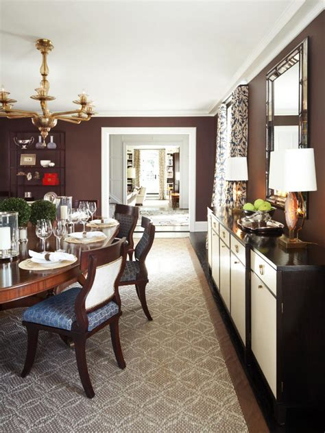 Chocolate Brown Dining Room by Photo Page Hgtv