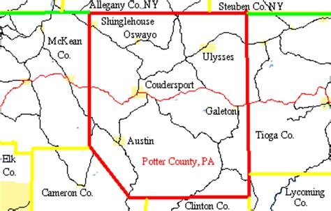 maps of potter county pa