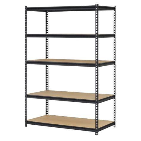 Adjustable Rack Shelf by Edsal Urwm184872bk Black Steel Storage Rack 5 Adjustable